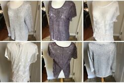 Lot of 3 TRENDY Size LG Large Lace Tops Sweater Maurices amp; More NICE IIB $26.95