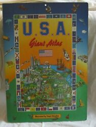 Giant USA Atlas for Children Board Book 23 x 16 $9.99