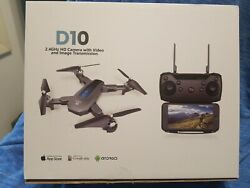 Deerc D10 Foldable Drone with Camera for Adults 720p Hd Fpv Live Video Tap Fly $80.99