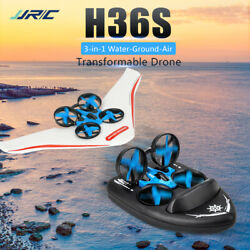 jjrc H36S 2.4G 4CH 3 in 1 Mini RC Drone Boat Car Land Water Air Kids Toy Gift $40.99