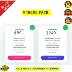 Shopify 9 Premium Theme Set Instant Delivery Retails for $350 High 🔥 $0.99