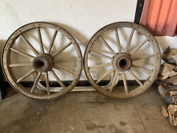 Western antique authentic 1800s stagecoach wagon wheels $600.00