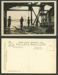 Malaya Washing Up Tin Sluice Boxes Dredge British Empire Expo#x27; 1924 Old Postcard GBP 22.99