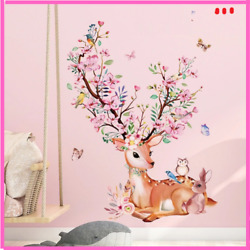 Animal Wall Stickers Flowers Wall Decals For Kids Rooms Nursery Home Decoration $16.52
