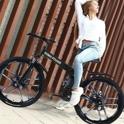 Mountain Bike 26 inches Wheels 21 Speed Bicycle MTB Full Suspension Mens $177.65