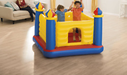 Jump O Lene Castle Inflatable Bouncer for Ages 3 6 Multicolor $62.00