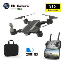 Speed Adjustment Foldable Drone With Camera QuadcopterPhone Simulation Control $52.49
