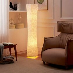 LED Floor Lamp Modern Design Fabric 52#x27;#x27;Tall Lamp w 2 Bulbs Living Room Bedroom $68.99