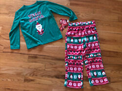 """NWT Boys Christmas Jammies for your Families quot;Team Santa"""" size 4 New Pajamas PJs $10.00"""