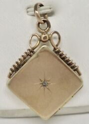 Victorian Antique Rose Cut Diamond 1 4 Gold Shell Filled GF Locket Pendant $299.00