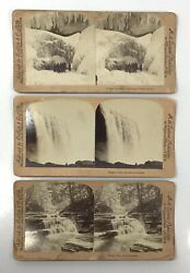 Antique Niagara Falls Stereo View Lot Of 3 Cards M.H. Zahner Publisher $19.95