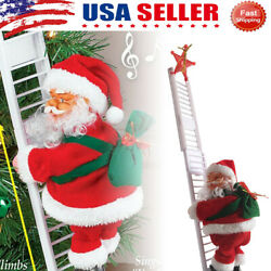 Electric Climbing Santa Claus Ladder Hanging Ornaments Home Christmas Tree Decor