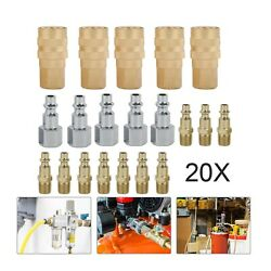 20x Heavy Duty Quick Coupler Set Air Hose Connector Fittings 1 4 NPT Tools $18.99