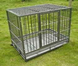 Hammigrid 42quot; Commercial Quality Heavy Duty Pet Dog Cage Crate Kennel wWheels