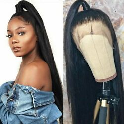 US 18 24inch Glueless full lace wigs Party Women 1B Silky Straight Full Head $62.99