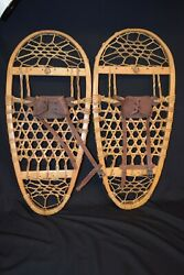 Vintage wooden snow shoes Tubbs 13 by 28 $75.00