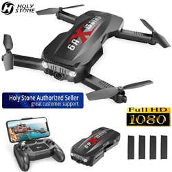 Holy Stone HS160 pro Foldable RC Drones with HD Camera 1080p Selfie Quadcopter $54.99