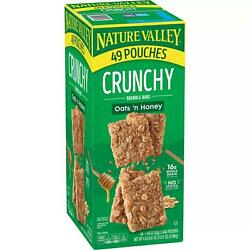 Nature Valley Oats #x27;n Honey Crunchy Granola Bars 49 ct. $19.50