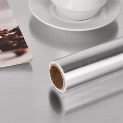 Stainless Steel Silver Contact Paper Vinyl Self Adhesive Film Kitchen Countertop $13.09