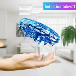 Mini Helicopter UFO RC Drone Infrared Hand Sensing Aircraft Small Drone for Kids $22.99