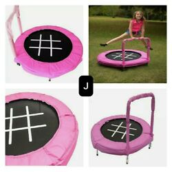 New JumpKing Trampoline 4 Foot Bouncer for Kids Pink TicTacToe. 100 Lbs Mx W. $72.00