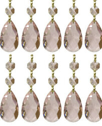Royal Designs Replacement Chandelier Crystal Prism Pink 10 Pack $21.70