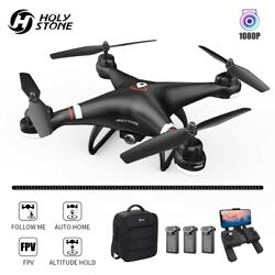 Holy Stone HS110G RC Drones with HD Camera Selfie 1080P GPS Hover 3 BatteryCase $119.99