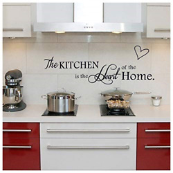Bestjybt The Kitchen is The Heart of The Home DIY Removable Kitchen Wall Dining $10.49