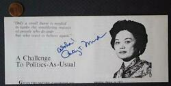 Hawaii Congresswoman Patsy Mink for President autographed 1972 Campaign flyer * $19.99