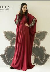 Pakistani Indian Mariab Sana Safinaz Party Wear Long Dress Embroided Abaya $124.00