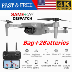2020 NEW RC Drone 4k HD Wide Angle Camera 1080P WiFi FPV Foldable Selfie Drone $41.98