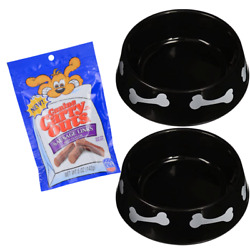 Plastic Dog Bowls for Food amp; Water Perfect Dish for Dog Puppy Pet Large Black $27.11