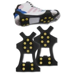 Non slip Snow Cleats Shoes Boots Cover Step Ice Spikes Grips Crampons Hiking $7.99