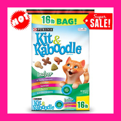 Purina Kit amp; Kaboodle Indoor Dry Cat Food Indoor 16 lb. Bag Original version $21.58