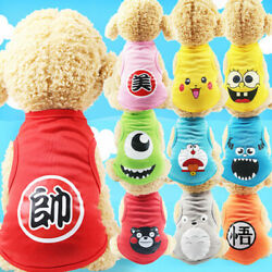 New Cartoon Small Dog Clothes Pet Puppy Cute Vest Dog Cat Apparel USA BEST GIFTS $5.50