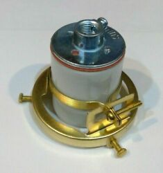 BRASS PLATED 2 1 4quot; Clamp On Lamp Shade Holder for PORCELAIN Socket FREE SHIP $6.86