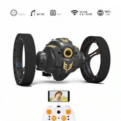 Remote Control Bounce Car Camera Wifi rotating LED Night Light Robot Kids Toy $74.99