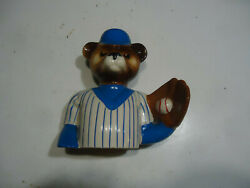 Chicago Cubs Jim Beam decanter vintage bear advertising top only $29.99
