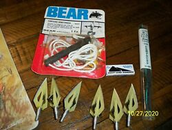 VINTAGE BEAR ARCHERY LOT BROADHEADS STRING BOWSTRINGER BLADES $55.00