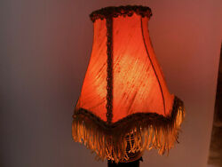 2 French yellow golden lamp shades vintage 1950. French Boudoir Shade. Petite La $42.00