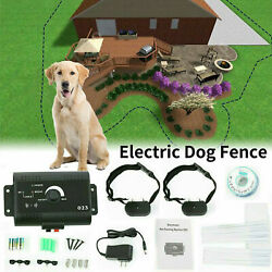 Electric Dog Fence System Waterproof Shock Collars For 2 Dogs $28.99