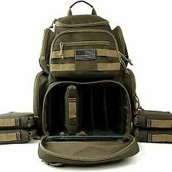 NiceAndGreat Tactical Shooting Range Backpack Carries 5 Handguns Ammo Pouches an $130.95