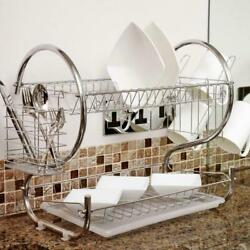 Hot Kitchen Dish Cup Drying Rack Drainer Dryer Tray Cutlery Holder Organizer US $12.99