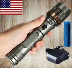 Rechargeable 990000LM LED Flashlight Tactical Police Super Bright Torch Zoomable $10.98