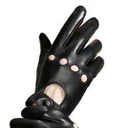 Men Soft Black Leather Driving Gloves Winter $16.77