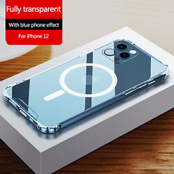 Clear Magnetic Case Mag Safe For Apple iPhone 12 Pro Max 12 Mini 12 Pro Cover $11.39