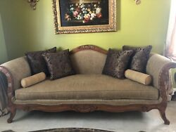 sofa antique with cushions $600.00