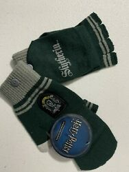 Harry Potter Slytherin Gloves With Logo Warm Mittens fingerless Winter Xmas Gift $9.99
