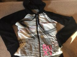 ROXY PAC SUN WOMEN#x27;S JUNIORS XS REVERSIBLE ZIP UP HOODIE SUPER WARM JACKET $14.00