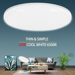1 X 24W LED Ceiling Down Light Cool White Flush Mount Kitchen Lamp Home Fixture